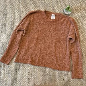 Columbia Burnt Orange Textured Knit Crop Sweater